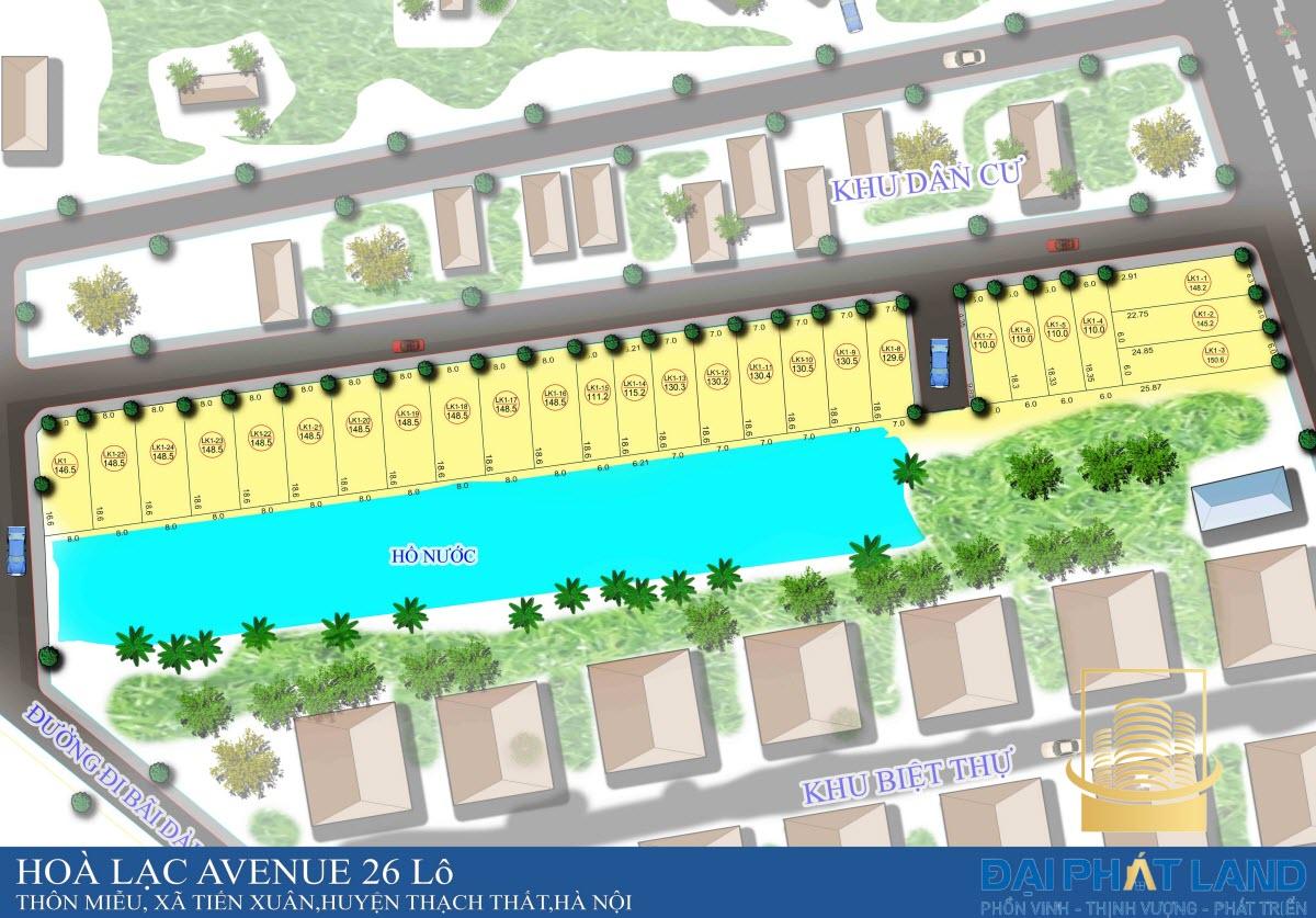 Dự án Hòa Lạc Avenue 26 lô tại Thạch Thất Hà Nội
