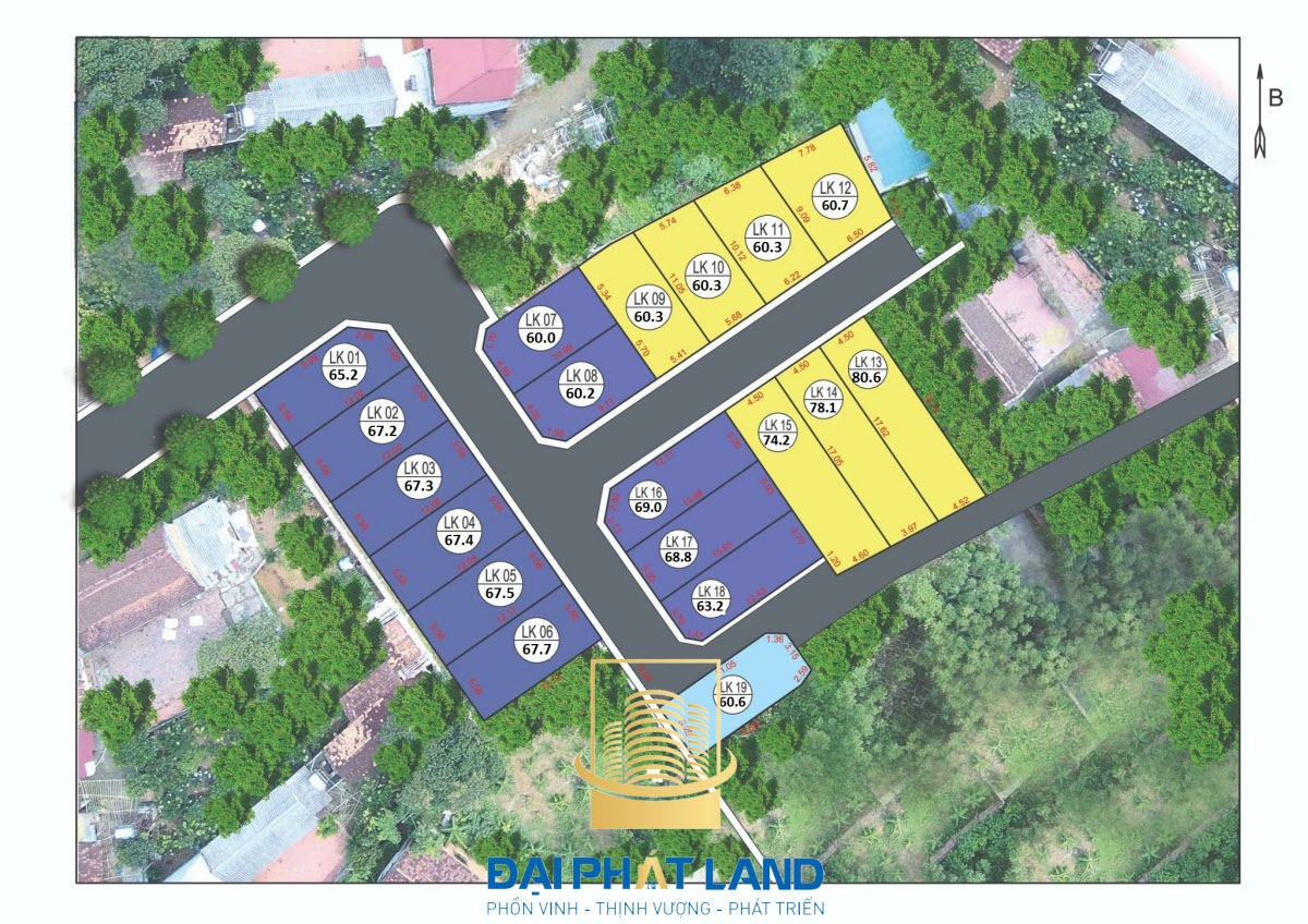 Dự án Khu dân cư 36 lô Phúc Tiến Thạch Thất Hà Nội
