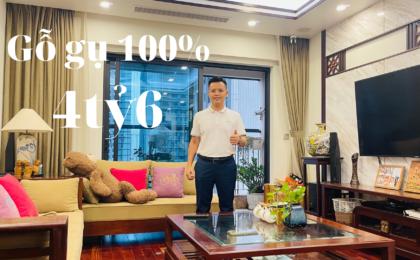 GoldmarkCity – R1, 129m2, 3 ngủ, gỗ gụ, 4ty6, full nội thất